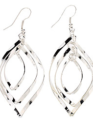 Modische Multilayer knopfförmigen Sterling Silver Earring