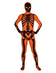 billige -Zentai Dragt Ninja Spandex Heldragt Cosplay Kostumer Trykt mønster Trikot / Heldragtskostumer / Zentai Lycra Herre / Dame Halloween / Høj Elasticitet
