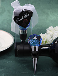 """Crystal Chrome Bottle Favor-1Piece/Set Bottle Stoppers Classic Theme Blue / Gold 3 1/2"""" x 1 1/2"""" (8.9*3.8cm)Gift box with a organza"""