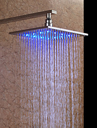 Contemporary Rain Shower Nickel Brushed Feature for  LED Rainfall , Shower Head