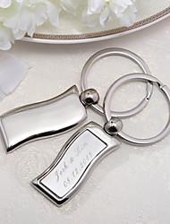 Inox Porte-clés Favors-4 Piece / Set Porte-clés Personnalisé Argent