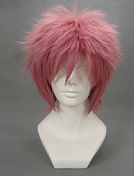 cheap -Cosplay Wigs Fairy Tail Natsu Dragneel Anime Cosplay Wigs 32 CM Heat Resistant Fiber Men's