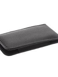 A19B Защитные ПУ кожаный Пояс сумка для Iphone 5G (Black)