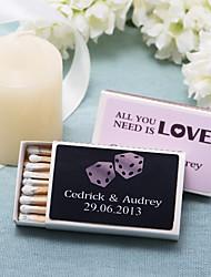 Wedding Décor Personalized Matchboxes - Dice (Set of 12)