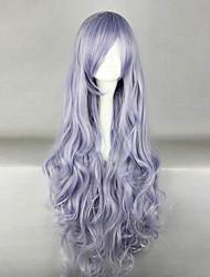 Perruques de Cosplay Natsume Yuujinchou Cosplay Violet Long Anime Perruques de Cosplay 100 CM Masculin / Féminin