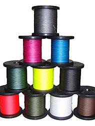 cheap -500M / 550 Yards PE Braided Line / Dyneema / Superline Fishing LineBlack / Green / White / Yellow / Gray / Fuchsia / Red / Blue / Dark