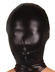 Mask Ninja Zentai odijela Cosplay Nošnje Crn Jednobojni Mask Shiny Metallic Uniseks Halloween
