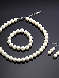 cheap -Women's Imitation Pearl Jewelry Set - Others Ivory
