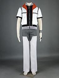 abordables -Inspiré par Kingdom Hearts Roxas Vidéo Jeu Costumes de Cosplay Costumes Cosplay Mosaïque Manches Courtes Manteau Pantalon Ceinture