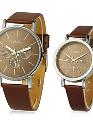 cheap -Men's / Women's / Couple's Fashion Watch Chinese Tile Other Band Wrist Watch Black / White / Brown