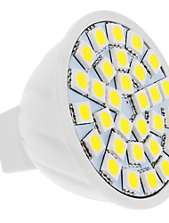 billiga -4W 420lm GU5.3(MR16) LED-spotlights MR16 30 LED-pärlor SMD 5050 Naturlig vit 12V