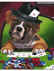 abordables -lona estirada arte animales póquer perros 2 por Newland jenny listos para colgar