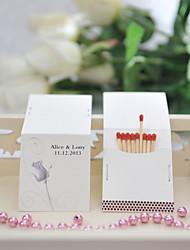 abordables -décoration de mariage de cartons d'allumettes personnalisés - rose (ensemble de 50)