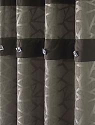 cheap -(Two Panels) Barroco Jacquard Geometric Polyester Cotton Blend Energy Saving Curtain