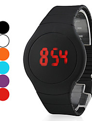 cheap -Men's Wrist watch Digital Touch Screen Calendar / date / day LED Silicone Band Creative Black White Red Orange Green Purple