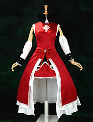 cheap -Inspired by Puella Magi Madoka Magica Kyoko Sakura Anime Cosplay Costumes Cosplay Suits / Dresses Patchwork Sleeveless Dress / Sleeves / Headband For Women's / Satin