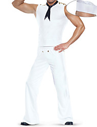 cheap -Sailor Cosplay Costume Party Costume Male Halloween Carnival Festival / Holiday Halloween Costumes Solid