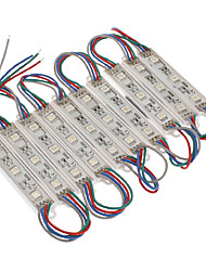 Waterproof 0.6W 5050SMD RGB Light LED Module (DC 12V, 10pcs)