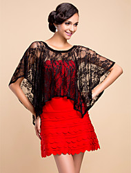 Wedding  Wraps Capelets Sleeveless Lace Black Wedding / Party/Evening Pullover