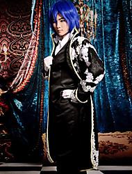 Недорогие -Вдохновлен Вокалоид Kaito видео Игра Косплэй костюмы Косплей Костюмы Пэчворк Длинный рукавКосыночная повязка Пальто Жилетка Рубашка Брюки