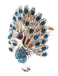 baratos -Mulheres Anel de declaração - Imitações de Diamante, Liga Pavão Luxo 8 Azul / Dourado Para Diário