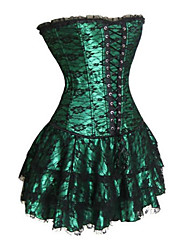 cheap -Corset Gothic Lolita Dress Black Red Green Lolita Accessories Print Polyester