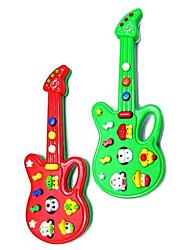 Недорогие -электрическая мини музыкальный гитара с 12 мелодий (питание от 2AA, случайные цвета)