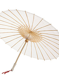 cheap -Solid Color Cotton Umbrella With Tassels (More Colors)