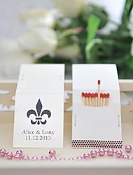 Недорогие -свадьба декор персонализированные спичечных коробков - Fower-де-Люс (набор из 50)