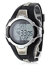cheap -Unisex Calorie Counter Black Silicone Band Digital Wrist Watch with Heart Rate Monitor Cool Watch Unique Watch