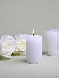 cheap -Simple Round White Candle Favor (Set of 6)