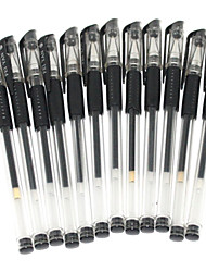 Business Black Ink Gel Pen (12PCS)