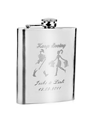 "Gift Groomsman Personalized ""Keep Loving"" 7-oz Stainless Steel Flask"