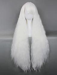 abordables -Pelucas Lolita Gosurori Blanco Lolita Peluca de Lolita  85 CM Pelucas de Cosplay Un Color Pelucas Para