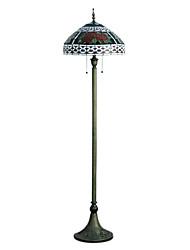 Недорогие -60W Характеристика художественных светильников этаж В Юрт форма с красными цветочным узором