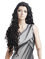 cheap -Curly / Spanish Curly Remy Human Hair / Human Hair 27 inch Wig Lace Front