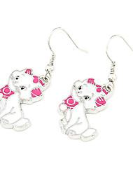Damen Tropfen-Ohrringe Modeschmuck Modisch individualisiert Acryl Aleación Tierform Katze Schmuck Für Party Alltag