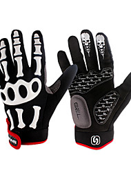 Недорогие -SPAKCT Перчатки для велосипедистов Горные велосипеды Дышащий Противозаносный Впитывает пот и влагу Защитный Спортивные перчатки Зима Лайкра Махровая ткань для Взрослые На открытом воздухе