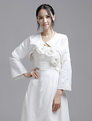 cheap -Long Sleeves Satin Wedding Party Evening Casual Wedding  Wraps Coats / Jackets