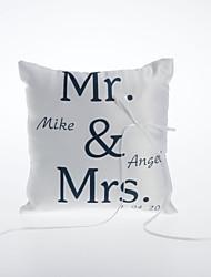 oreiller anneau de satin personnalisé le thème de mariage de magasin de mariage