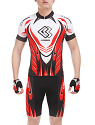 cheap -Men's Short Sleeves Cycling Jersey with Shorts - Red Bike Shorts Jersey Clothing Suits, Quick Dry, Summer, Spandex