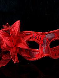 billige -Karneval Maske Unisex Halloween Karneval Nytår Festival / Højtider Halloween Kostumer Hvid Sort Rød Ensfarvet Blonde