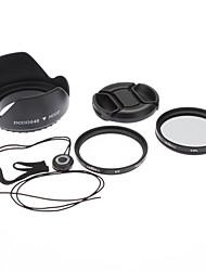 49mm UV CPL Filter Lens + Cap + Torwart + Hood für Sony Alpha NEX-7 NEX-5N NEX-C3