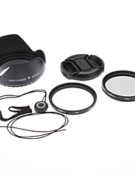 49mm UV CPL Filter Lens+Cap+Keeper+Hood for Sony Alpha NEX-7 NEX-5N NEX-C3