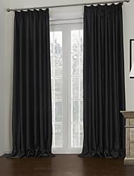 povoljno -Dvije zavjese Prozor Liječenje Moderna , Jednobojni Living Room Polyester Materijal Blackout Zavjese Zavjese Početna Dekoracija For Prozor
