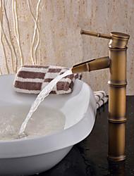 cheap -Art Deco/Retro Vessel Ceramic Valve One Hole Single Handle One Hole Antique Brass, Bathroom Sink Faucet