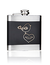 cheap -Bride Bridesmaid Groomsman Couple Parents Stainless Steel Hip Flasks Wedding Anniversary Birthday Business