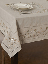 cheap -Modern Linen / Cotton Blend Square Table Cloths Cotton Blend Aquare Table Cloths