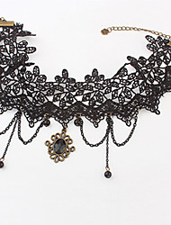 cheap -Vintage Lace With Beads Resin Women's Necklace Classical Feminine Style