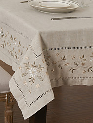 cheap -As per picture Linen / Rayon Square Table Cloths Kitchen & Dining